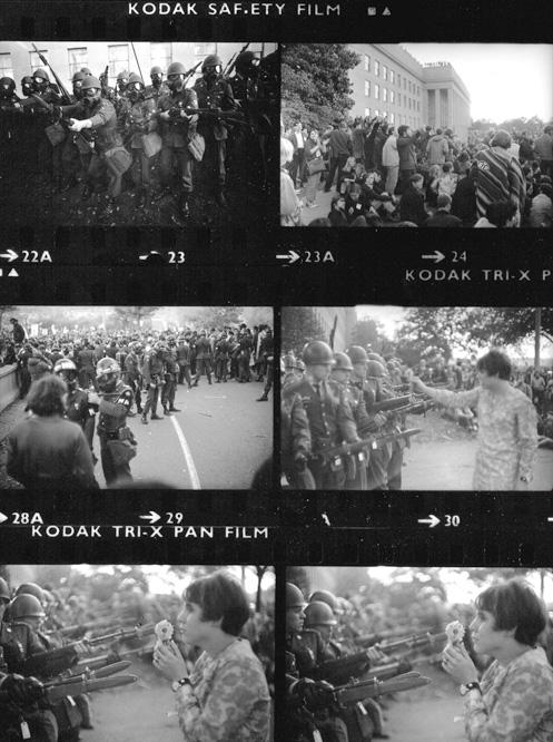 Contactos_Marc_Riboud_durante_manifestacion_1967